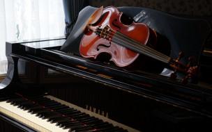 пианино, скрипка