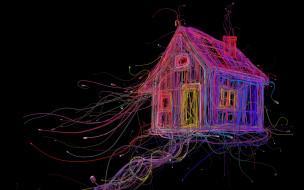 провода, кабель, разъем, дом, шнур
