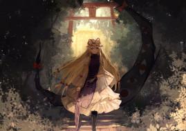 аниме, touhou, девушка