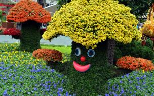 грибы, цветочные