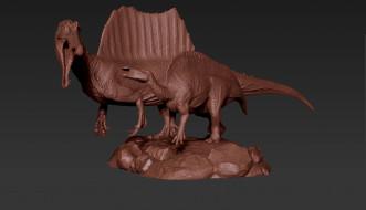 фон, динозавр