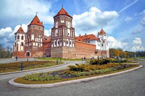 замок, дворец, Беларусь, Мирский