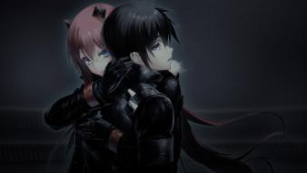 аниме, tokyo necro, двое