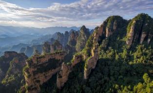Хунань, Китай, горы, скалы