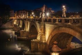 замок, мост, река