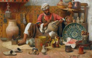 гончарная мастерская, Жан Дискарт, масло, холст, французский живописец, 1910, Jean Discart