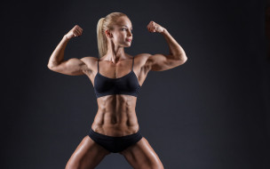 спорт, фитнес, поза, упражнение, девушка, фигура