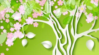 фон, лепестки, цветы