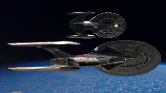 вселенная, космический корабль, галактика, полет