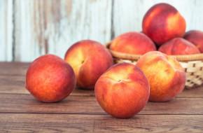карзинка, персик, фрукт