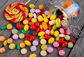 сладости, банка, леденец, конфетки
