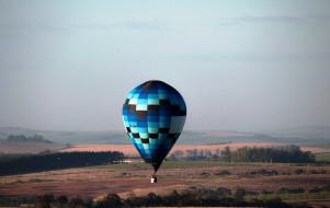 полет, пейзаж, воздушный, шар