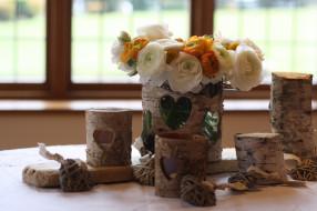 цветы, букет, вазы