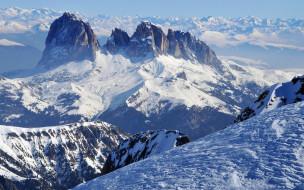 снег, вершины
