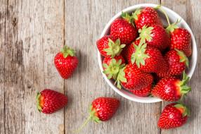 ягода, клубника, миска