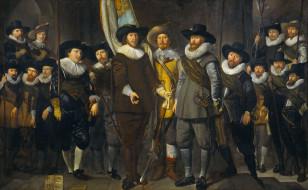 Амстердам, портрет, Томас де Кейзер, масло, холст, картина, Компания Капитана и Лейтенанта