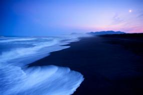 море, пляж, ночь