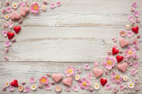 день святого Валентина, цветы, сердечки, пряники, праздник, праздник