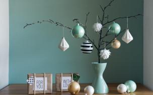 праздник, подарки, декоративная, композиция, ваза, игрушки, simple, decoration, Christmas