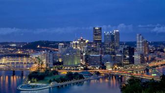 pittsburg, города, питтсбург , сша, панорама