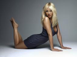 поза, макияж, платье, блондинка, актриса, модель, девушка, Kaley Cuoco
