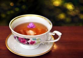 чай, чашка, блюдце