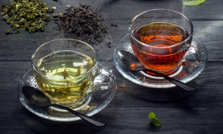 чай, заварка, мята