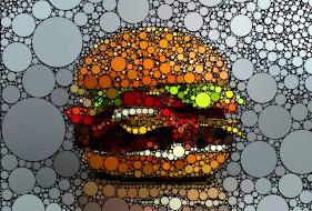 гамбургер, графика, круги, креатив
