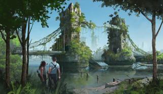 фэнтези, иные миры,  иные времена, иной, мир, постапокалипсис, люди, лондонский, мост, разрушение