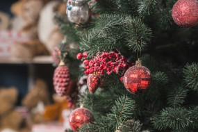 праздник, новый год, елка, игрушки