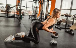 девушка, спорт, фитнес