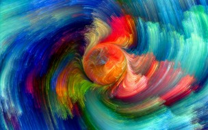 colorful, rainbow, painting, abstract, splash, colors