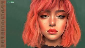 взгляд, лицо, девушка, 2018