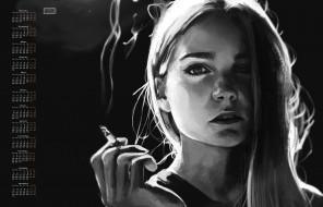 лицо, сигарета, взгляд, девушка, 2018