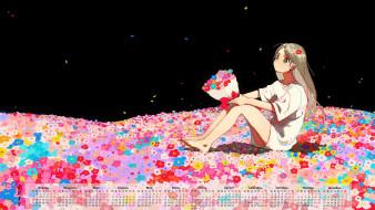 календари, аниме, 2018, девочка, цветы
