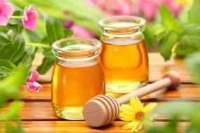 пчеловодство, мед, банки, цветы, цветок