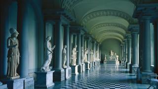 колонна, музей древностей Густава Третьего, скульптура, Королевский дворец, Стокгольм, Швеция