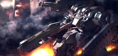 аниме, mobile suit gundam, робот