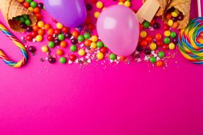 сладости, карамель, дрожже, сахарный рожок, шарик