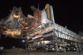 space shuttle discovery, космос, космодромы, стартовые площадки, шаттл