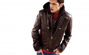 капюшон, модель, куртка, джинсы, парень, морщины