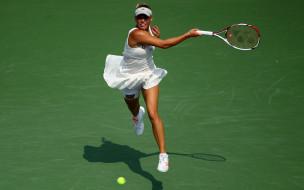 теннис, теннисистка, спортсменка, Каролина Вознянски, корт, юбка, ракетка, мяч
