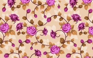 векторная графика, цветы , flowers, переплетение, розы, цветы