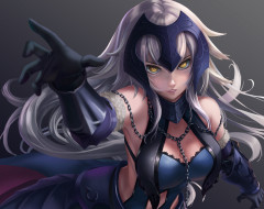 аниме, fate, stay night, jeanne, d'arc, alter