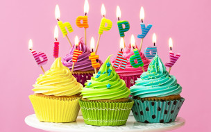 праздничные, день рождения, colours, кексы