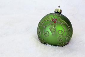 шарик, снег