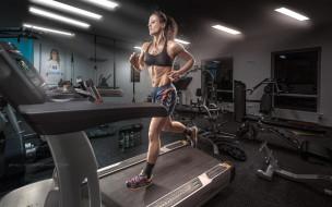 фитнес, девушка, спорт