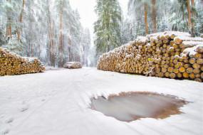 обои для рабочего стола 2048x1366 природа, зима, простор