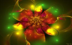 3д графика, цветы , flowers, абстракция, фрактал, цветы