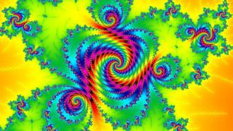 3д графика, фракталы , fractal, узор, фрактал, свет, цвет, спираль